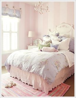 White And Pastel Bedroom 162