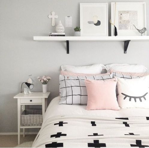 White And Pastel Bedroom 163
