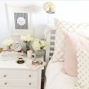 White And Pastel Bedroom 35