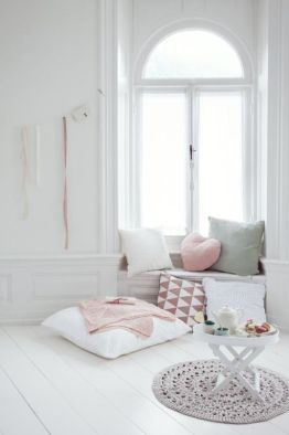 White And Pastel Bedroom 57