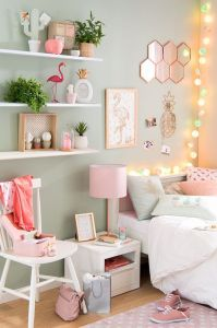 White And Pastel Bedroom 70