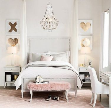White And Pastel Bedroom 90