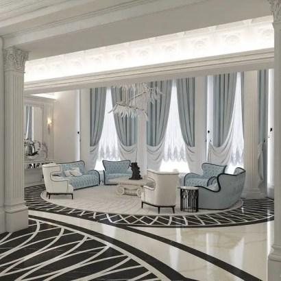 Elegant Contemporary Living Room 34