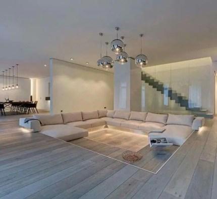 Elegant Contemporary Living Room 63