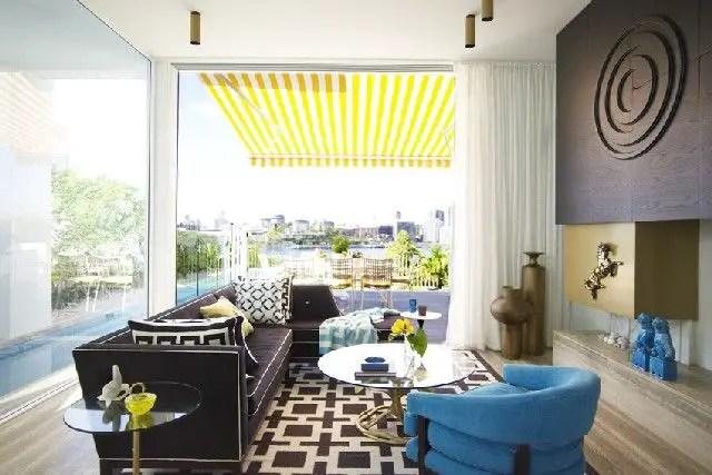 Elegant Contemporary Living Room 84