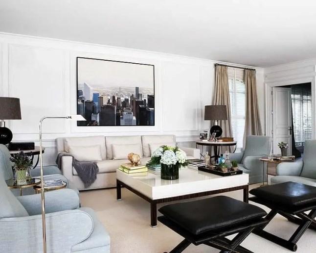 Elegant Contemporary Living Room 9