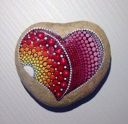 Painted Rocks With Inspirational Picture And Words 11