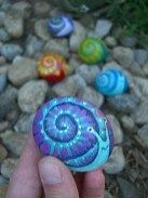 Painted Rocks With Inspirational Picture And Words 111