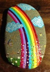 Painted Rocks With Inspirational Picture And Words 114