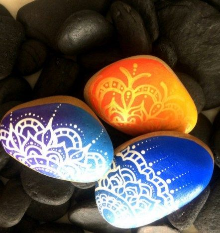 Painted Rocks With Inspirational Picture And Words 119