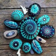Painted Rocks With Inspirational Picture And Words 122