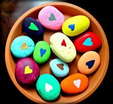 Painted Rocks With Inspirational Picture And Words 126