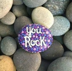 Painted Rocks With Inspirational Picture And Words 130