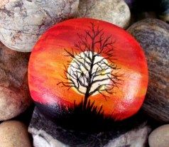 Painted Rocks With Inspirational Picture And Words 19