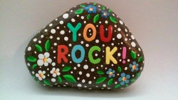 Painted Rocks With Inspirational Picture And Words 24