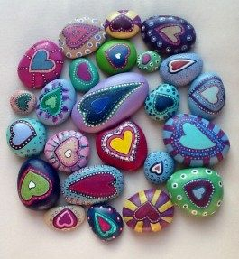 Painted Rocks With Inspirational Picture And Words 29