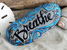 Painted Rocks With Inspirational Picture And Words 30
