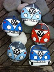 Painted Rocks With Inspirational Picture And Words 37