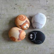 Painted Rocks With Inspirational Picture And Words 50