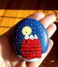 Painted Rocks With Inspirational Picture And Words 51