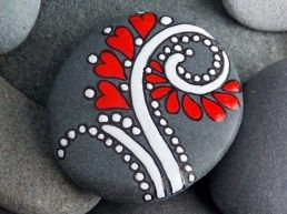 Painted Rocks With Inspirational Picture And Words 59