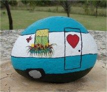 Painted Rocks With Inspirational Picture And Words 68