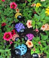 Painted Rocks With Inspirational Picture And Words 73