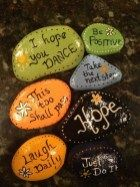 Painted Rocks With Inspirational Picture And Words 74