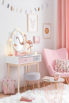 Pink White And Gold Bedroom 101