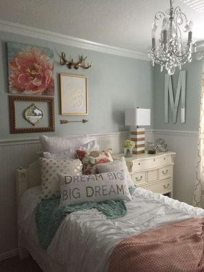 Pink White And Gold Bedroom 102