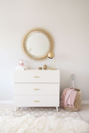 Pink White And Gold Bedroom 17