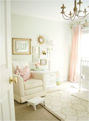 Pink White And Gold Bedroom 19