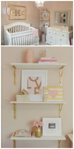 Pink White And Gold Bedroom 26