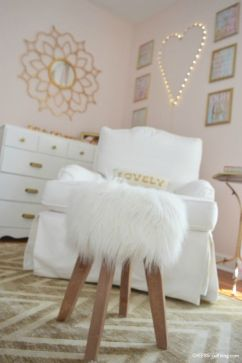 Pink White And Gold Bedroom 34