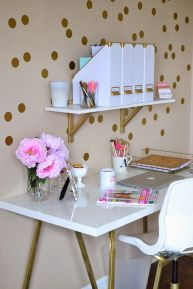 Pink White And Gold Bedroom 46