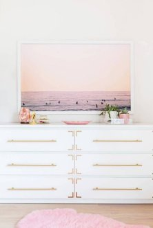 Pink White And Gold Bedroom 57