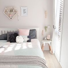 Pink White And Gold Bedroom 71