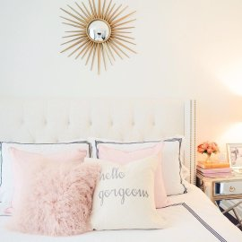 Pink White And Gold Bedroom 77