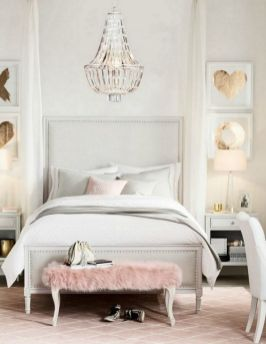 Pink White And Gold Bedroom 89