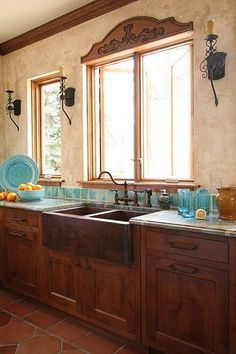 Spanish Mission Style Kitchen 44