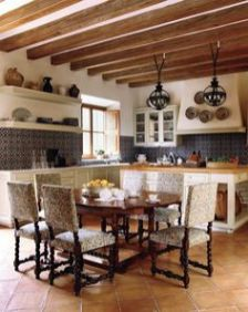 Spanish Mission Style Kitchen 71