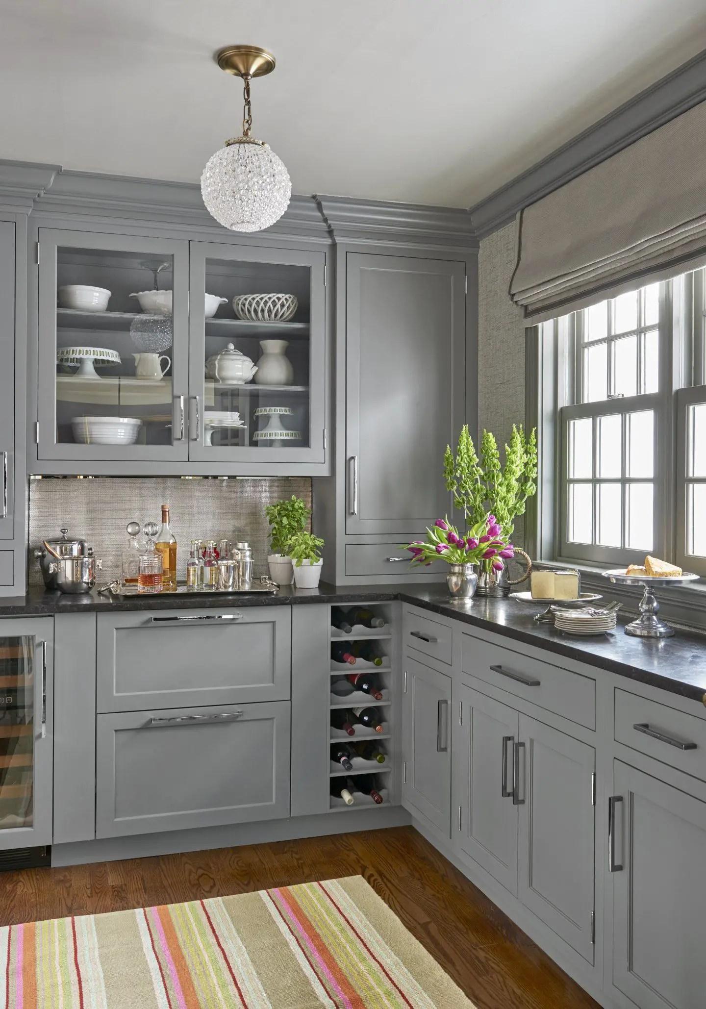Gray Cabinets Black Countertops 11   Decoratoo