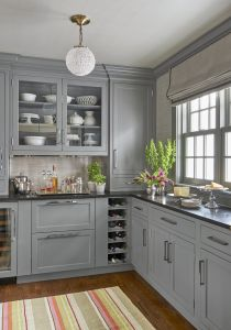 Gray Cabinets Black Countertops 11