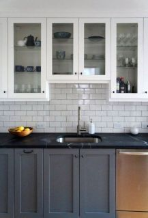Gray Cabinets Black Countertops 17