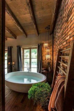 Log Home Bathrooms 13