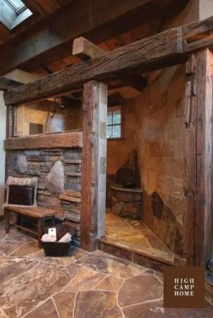 Log Home Bathrooms 15
