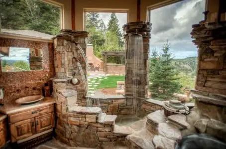 Log Home Bathrooms 16