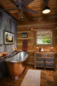 Log Home Bathrooms 9