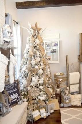 Burlap Christmas Tree Wreath 11