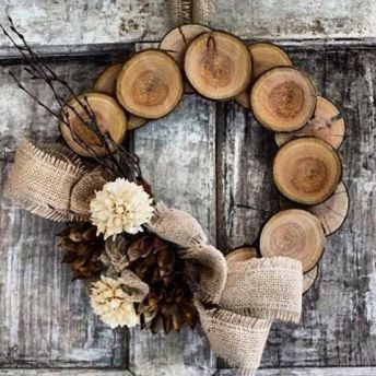 Burlap Christmas Tree Wreath 2